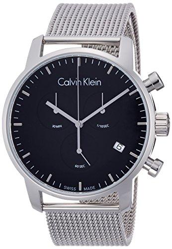 Calvin Klein Herren Chronograph Quarz Uhr mit Edelstahl Armband K2G27121
