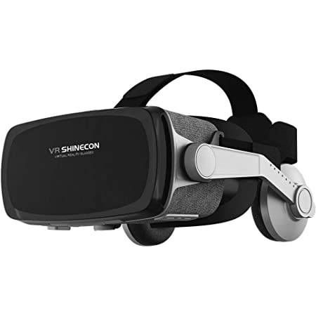 [New Version ] VR Headset,Virtual Reality Headset,VR SHINECON VR Goggles for Movies, Video,Games - 3D VR Glasses for iPhone, Android and Other Phones Within 4.7-6.2 inches