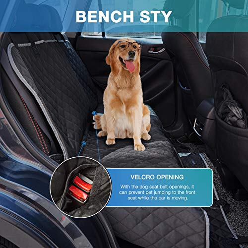Dog Seat Cover for Car NOBLE DUCK Dogs Hammock for Backseat, Dogs Back Seat Protector Waterproof Easy Cleaning