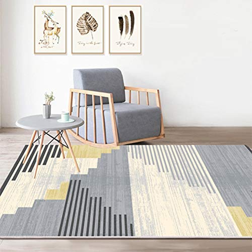 Tappeto per Camera da Letto Decorativo per la casa Soggiorno Antiscivolo Geometrico Tappeto Bagno Cucina Tappetino