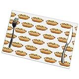 nxnx Manteles Individuales para Perros Calientes para Mesa de Comedor Juego de 6 tapetes de Cocina