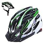 Athyior Casco Bicicleta Adulto Ciclismo Seguridad Helmet Casco Bici Ajustable 54-64cm para Ciclo patineta Scooter Patinaje Rodillo Blading Hombres Mujeres