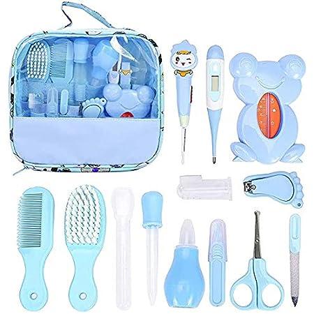 Set per la cura del bambino salute e cura con pettine spazzola tagliaunghie termometro bambini per neonati Migimi 13 pezzi aspiratore nasale