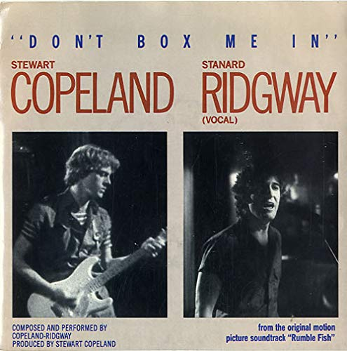 Stewart Copeland And Stanard Ridgway Don't Box Me In Demo UK 45 7