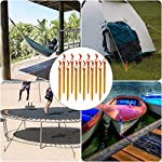 Rovtop 12Pcs Camping Tent Stakes Pegs 18cm Aluminium Alloy with Reflective Rope for Camping,Beach,Outdoor and Sand 5