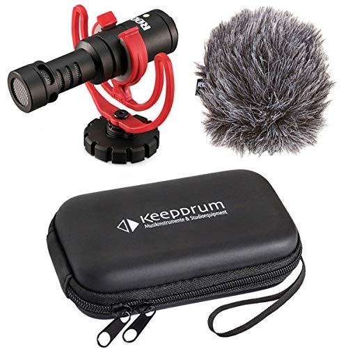Rode Videomicro Kamera-Mikrofon + keepdrum Soft-Case Tasche
