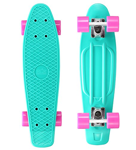 Star-Skateboards - 60-RT-01-PLBY - Caribbean and Glam Berry - Monopatín, Color Turquesa