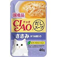 チャオ (CIAO) だしスープ ささみ かつお節入り 40g