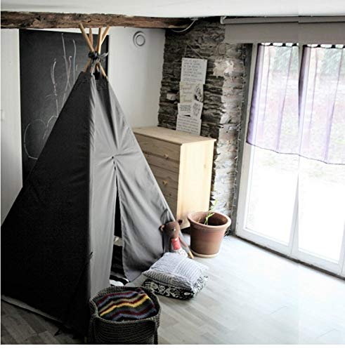small boy 2019 New pet Tent Dog Mini House Indoor Teepee Style (Grey)