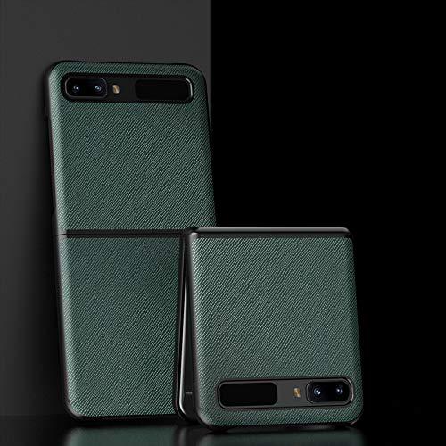 SWMGO® Texturas Cuero Funda Plegable Anti Vibración y Anti Caída,Agarre Cómodo Carcasa de Protección Completa Compatible para Samsung Galaxy Z Flip 5G/Samsung Galaxy Z Flip (2)