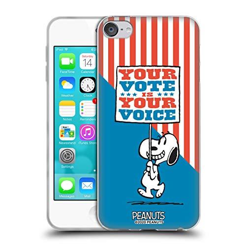 Head Case Designs Licenza Ufficiale Peanuts Il Cartello di Snoopy Il Tuo Voto è la Tua Voce Cover in Morbido Gel Compatibile con Apple Touch 6th Gen/Touch 7th Gen