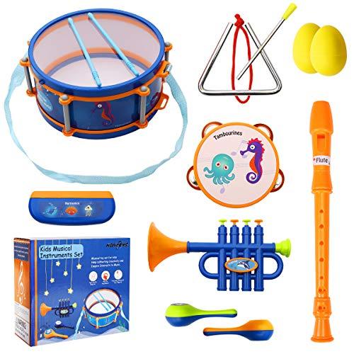 19. NONZERS Kids Musical Instruments Set