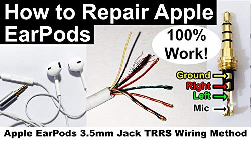 How to Repair Apple iPhone iPad EarPods Replacing Jack Full Demo 100% Work with Apple EarPods & 3.5mm Jack Wiring Method - Full Demo 4K Video (English Edition)