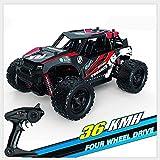 De escala 1:18 Hijos de control remoto de coches de juguete 36 kmh alta velocidad Off Road Todo Terreno Camión impermeable Buggy Radio compiten con los regalos de cumpleaños Vehículos rastreadores car