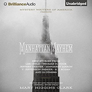 Manhattan Mayhem audiobook cover art