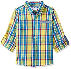 nauti nati Boys  Plain Regular Fit Shirt
