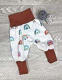 Pumphose Jersey haremshose Gr. 56-110, hose mdchen, regenbogen bunt rost, Babyhose, Kinderhose