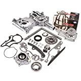 Compatible with 85-95 Toyota 2.4 SOHC 8V 22R 22RE 22REC High Performance Heavy Duty Timing Chain Kit w/Timing Cover Oil Pump GMB Water Pump