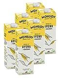 Monsoy - Bebida De Avena Calcio BIO - Caja de 6 x 1L