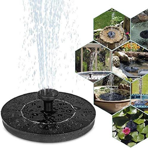 Bounabay Solar Springbrunnen, Solar Teichpumpe Garten Wasserpumpe mit 1,4W Monokristalline Solar Panel Brunnen Einfache Installation Solar Schwimmender Fontäne Pumpe Springbrunnen Fisch-Behälter