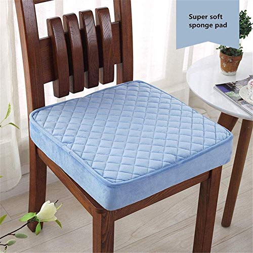 Seat pads Non-slip Seat Pads For Dining Chairs Detachable Outdoor Seat Pads With Zipped Padded Cushions For Kitchen Chairs Square Garden Seat Cushions Breathable Chair Cushion Pads chair cushions with