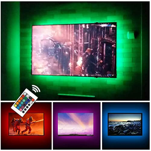 USB TV Backlight LED Strip Lights Kit for 24 to 60 inches Smart TV Sony LG Monitor, HDTV Wall Mount...