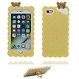 Generic iPhone 6 Hülle (4.7'), Handyhülle für iPhone 6s (4.7'), [ TPU Flexibles Stilvolles ] iPhone 6S case 3D Keks Bär, Bear Staub-Beleg-Kratzer beständig und Ring Ständer für Handy