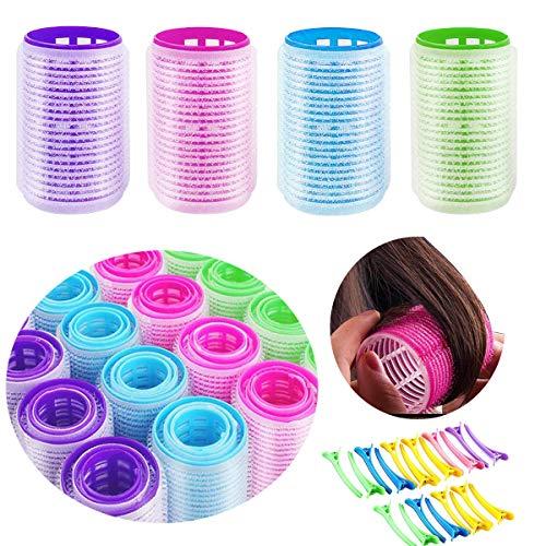 Zuzer 48pcs Rulo de Pelo y 20pcs Pinza de Pelo Hair Curlers Rollers para Peluquería DIY Uso Doméstico(40mm 30mm 25mm)