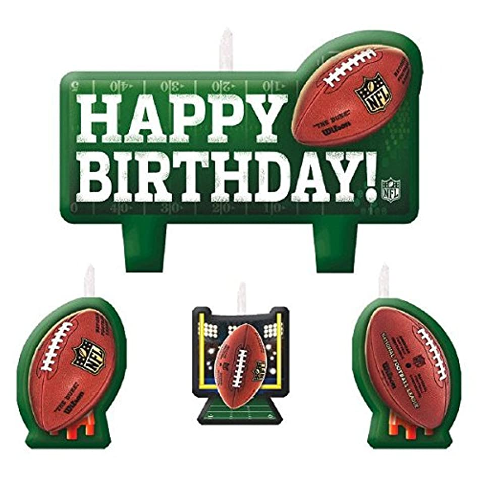 レルム通路リップNfl Drive Birthday Party Molded Birthday Candle Set, 4 Pieces, Made From Wax,