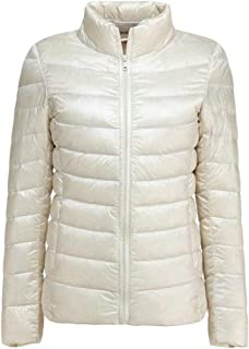 Macondoo Womens Puffer Zip Up Winter Jacket Lightweigth Quilted Down Coat