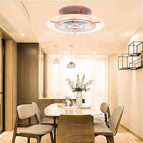 miwaimao Luces de techo con ventilador de control remoto, luces de techo modernas regulables de 48 W, iluminación de ventilador para sala de estar, dormitorio, estudio, lámpara de araña