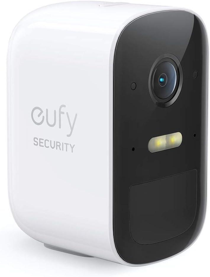 eufy Cámara vigilancia WiFi Exterior inalámbrica, Cámara de Seguridad Adicional eufyCam 2C de eufy Security, Requiere el Sistema HomeBase 2, 180 días de duración de la batería, HD 1080p