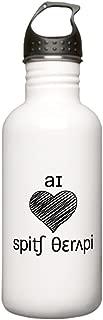 CafePress - I heart Speech Therapy - black Water Bottle - Stainless Steel Water Bottle, 1.0L Sports Bottle