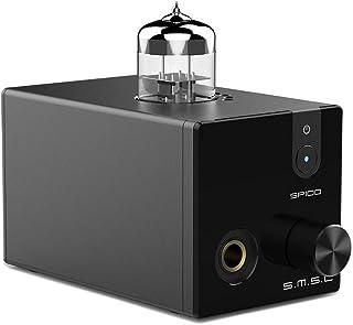 SMSL SP100 Tube Headphone Amplifier 6N3 Tube 6.35mm Headphone Out Stereo HiFi Desktop Tube Preamp (Black)
