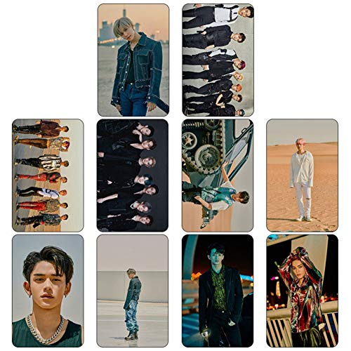 CAR-TOBBY 10 stks/set Kpop SuperM mini Albums Jopping Card Stickers Leuke Foto Laptop Mobiele Telefoon Sticker (H03)