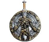 Alsino Viking Lord escudo y espada 2 en 1 juguete para niños, disfraz de carnaval, diseño de esqueleto