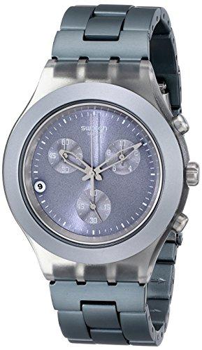Swatch SVCM4007AG - Reloj analógico de caballero de cuarzo con correa de aluminio gris