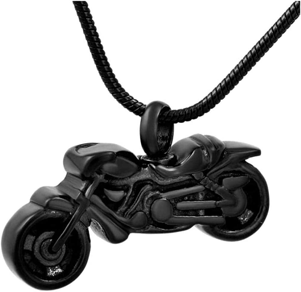 Urn Necklace for Ashes Cremation Urn Necklace Ashes Pendant Retro Motorcycle Cremation Ash Ur Necklace Memorial Pendant Souvenir Jewelry