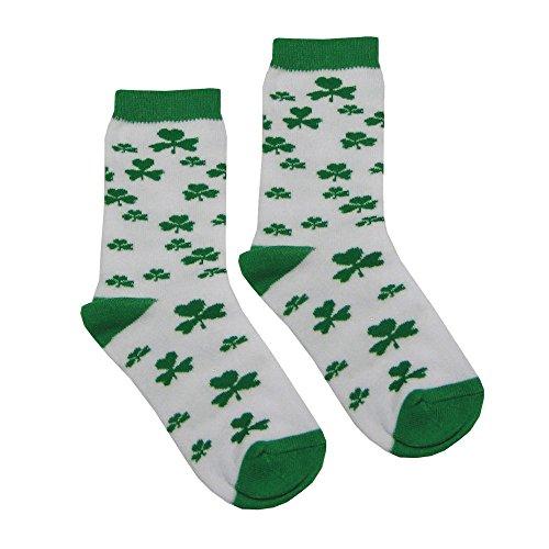 White Shamrock Kids Socks (9/12)