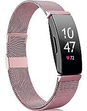 Faliogo Compatibel met Fitbit Inspire Bandje/Fitbit Inspire 2 Bandje/Fitbit Inspire HR Bandje, Roestvrij Staal Metalen Vervangende Pols Bandje Compatibel voor Fitbit Ace 2, Klein Groot