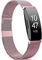 Faliogo Compatibel met Fitbit Inspire Bandje/Fitbit Inspire 2 Bandje/Fitbit Inspire HR Bandje, Roestvrij Staal Metalen...