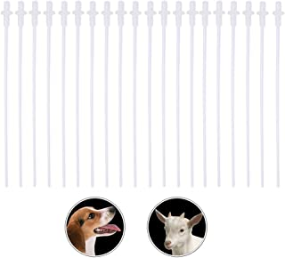 20 Pack Artificial Insemination Rods Tube Disposable Insemination Pipettes Breeding Catheter Breed Rod Test Tube for Dog Goat Sheep Canine Cat Rabbit Pet