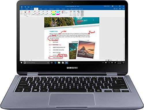 """Samsung - Notebook 7 Spin 2-in-1 13.3"""" Touch-Screen Laptop - Intel Core i5 - 8GB Memory - 512GB Solid State Drive - Stealth Silver"""