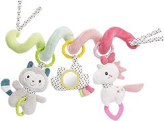Fehn 057034 Activity-Spirale Aiko & Yuki – Spielspaß zum Fühlen & Greifen – Für Babys und Kleinkinder ab 0 Monaten – Länge: 30 cm