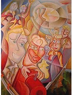 """Pintura Original Lienzo al Óleo Arte Abstracto Moderno """"MONTAÑA RUSA"""" por DOBOS, Cuadro para Decoración del Hogar, sala de..."""