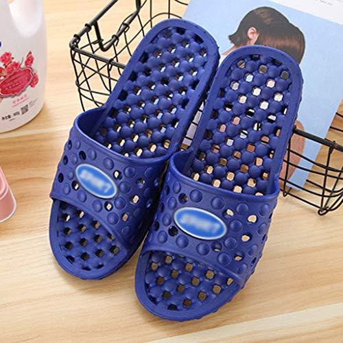 Hong Yi Fei-Shop Zapatillas Baño Hueco Zapatillas Suaves Sandalias Agujero Pareja Inferior y Zapatillas de baño Masculino Que se escapa Transpirable Masaje de Playa (Color : A, Size : 40-41)