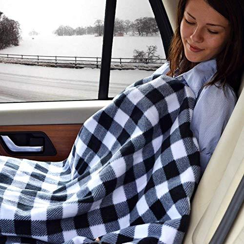 L-YINGZON 145 x 100 cm Manta coches Calefacción invierno climatizada 12V enrejado de ahorro de energía eléctrica en calor Manta automática, for el coche temperatura constante Accesorios de coche Punto
