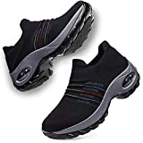 DierCosy Nursing Shoes for Women Black Slip on Womens Walking Shoes Comfortable Nurse Work Shoes