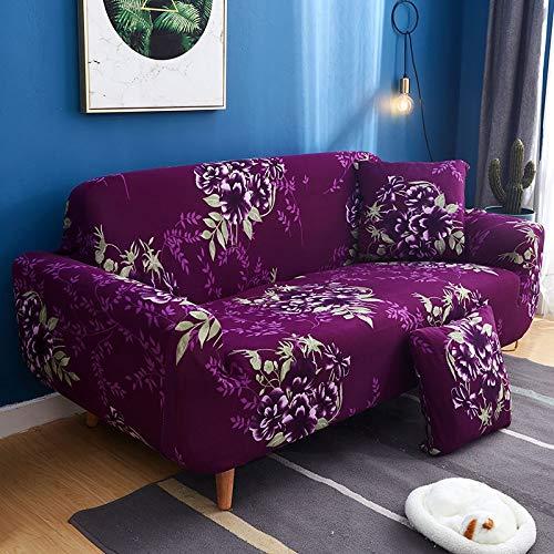 uyeoco Fundas sofá elásticas Cubre Sofa Fundas sofá 4/3/2/1 plazas Ajustable elástica (Color : K, Size : 1-Seater (90-140 cm))