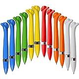 Ausgefallener Kugelschreiber,Oscar' aus Kunststoff - gelb, blau, orange, weiß, rot und grün |blaue...